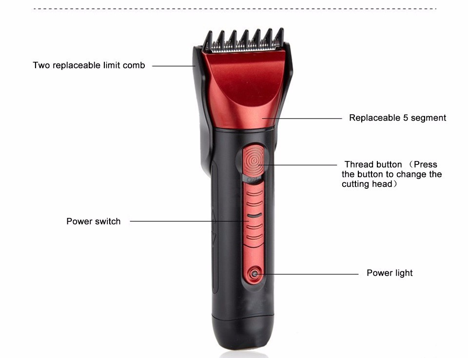 2018 Hot professional men electric clipper hair machine beard trimmer private label rechargeable hair clipper