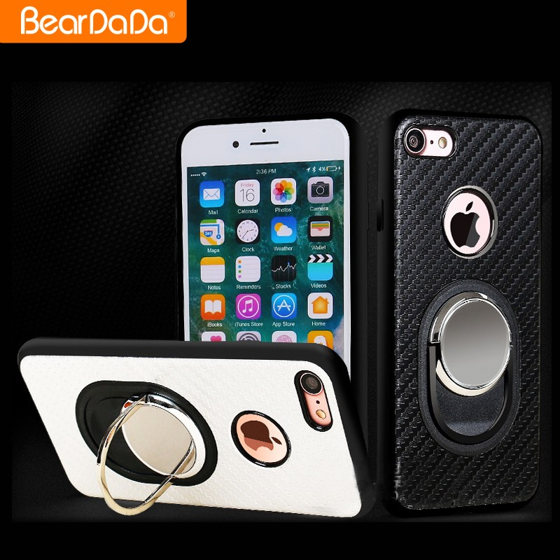 Magnetic Car Mount bracket Ring shockproof phone cover for iphone 7 hard armor case