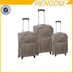 Good quality hot-sale soft upright wheeled carry-on luggage