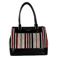 Fashionable Ladies Handbag Manufacturer Shoulder Bag Fabric & PU Combination