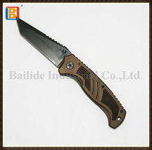 2017 Chinese Wholesales Stainless Steel Hunting Customized Hand Made Folding Survival Knife