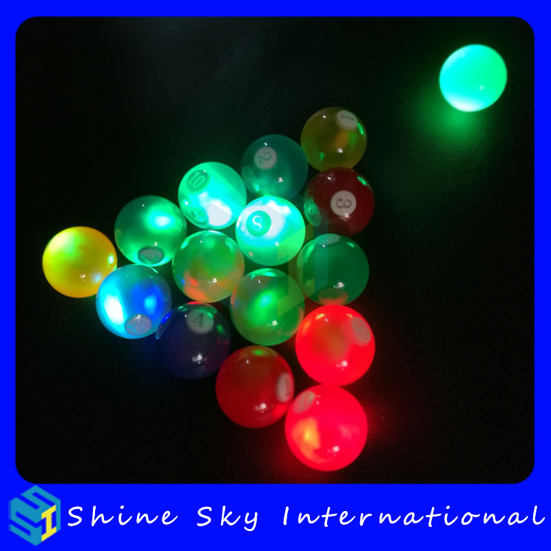 2017 New Product High Quality Crystal Led Snooker Balls Patented Product