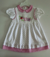 New style 100% cotton confortable baby girl dress