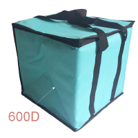 Large disposable aluminum food delivery insulated foldable beer bottle 600D polyester cooler bag
