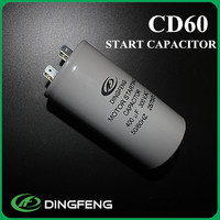 cd60 capacitor aluminum blue shell electric motor start capacitor