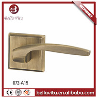 aluminum lever door handle on rose