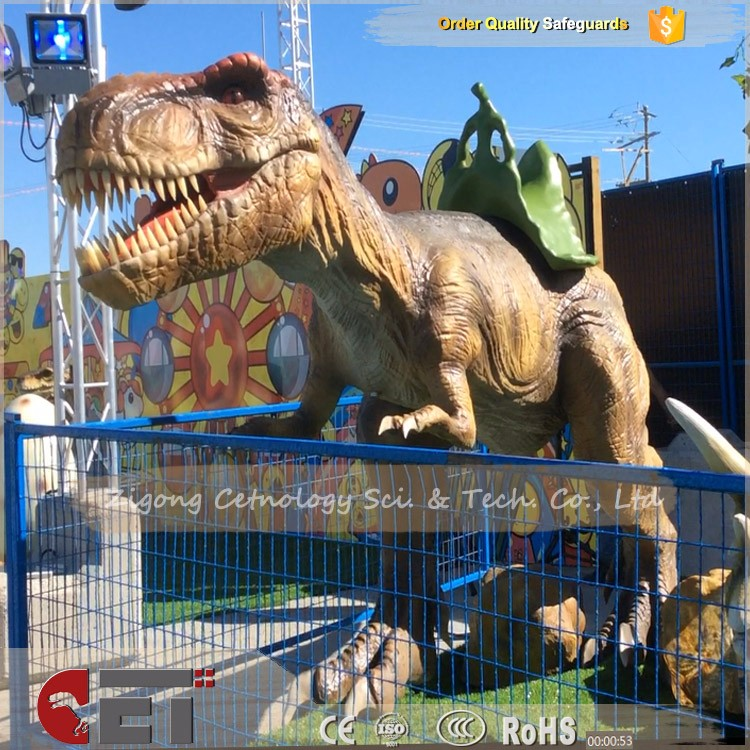 CET-H137 High Quality Coin Operated Realistic Mechanical Animatronic Dinosaur T-Rex Ride