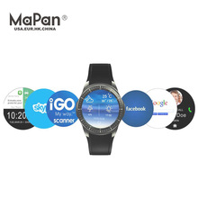 MaPan 1.39 inch Smart Watch with GPS 3G Newest MTK6580 quard core 3G heart rate monitor MW10