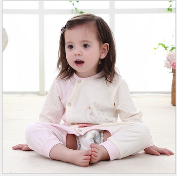 fashionable suave simple baby cotton romper