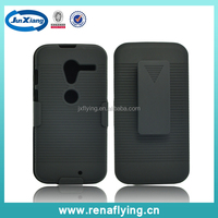 China Mobile Phone Accessory Hard Plastic Shell Cover Holster Combo Case For Motorola XT1058