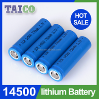 Lithium Battery 14500 3.7v 700mah Rechargeable battery
