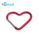 Novelty heart-shaped aluminum locking carabiner keychain