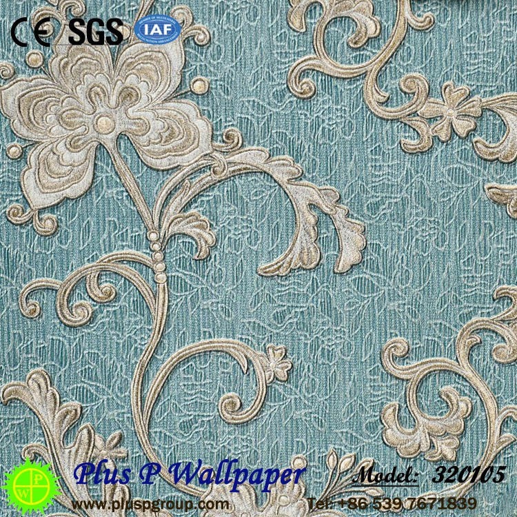 Plus P house beautiful natural wallpaper from china manufacture