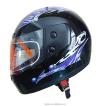 full face helmet bike motorcycle casco PP material/ small graphic/ blue / customized/ with visor