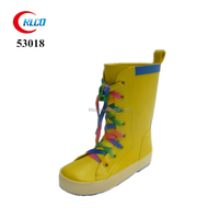 Wholesale rubber high heel waterproof plastic rain boots