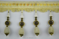 curtain accessories lace trim,beaded tassel curtain trimming