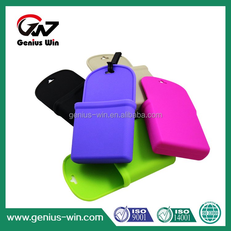 multi-color custom size good price silicone mobile phone carry bag