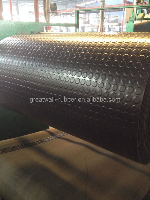 easy clean good looking protective functions for round button rubber mat