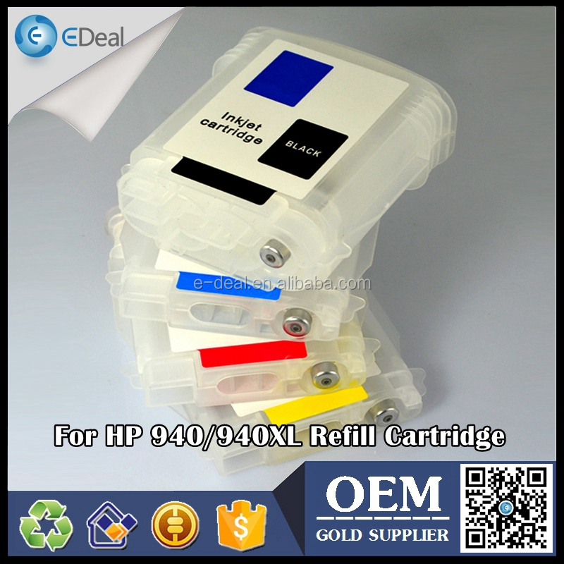 Office supplier inkjet printer ink tank for HP 940 940XL refillable ink cartridge with auto reset chip