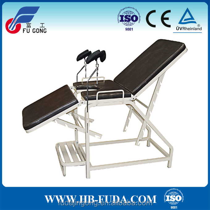 Manual adjustable portable gynecological chair hospital gynecology exam bed
