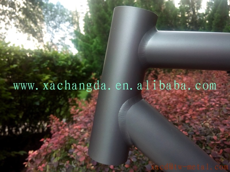 Titanium MTB bike frame customized titanium mountain bike frame with breeze dropout 26er Titanium MTB bike frame