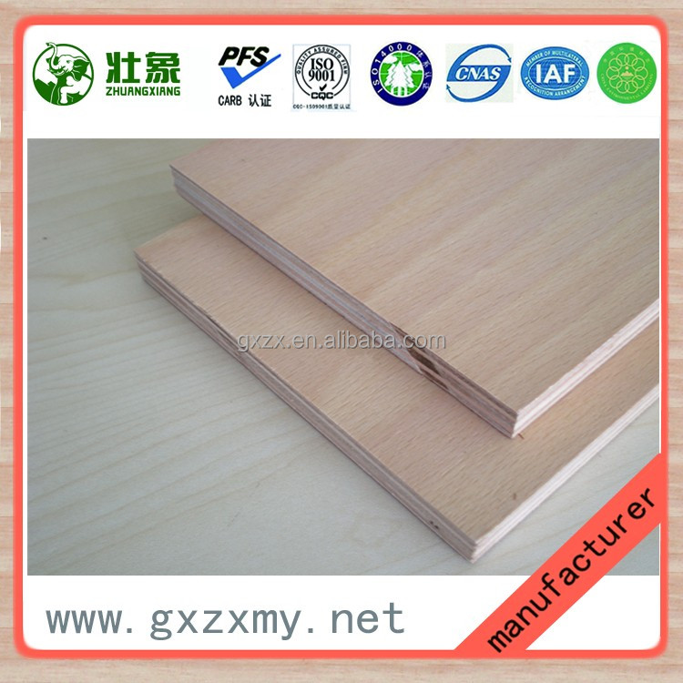 Furnture grade commercial plywood