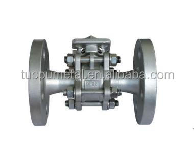 Alibaba China new product naturegas Valve,3pc mount direct type ball valve with flange end,wafer type ball valve price