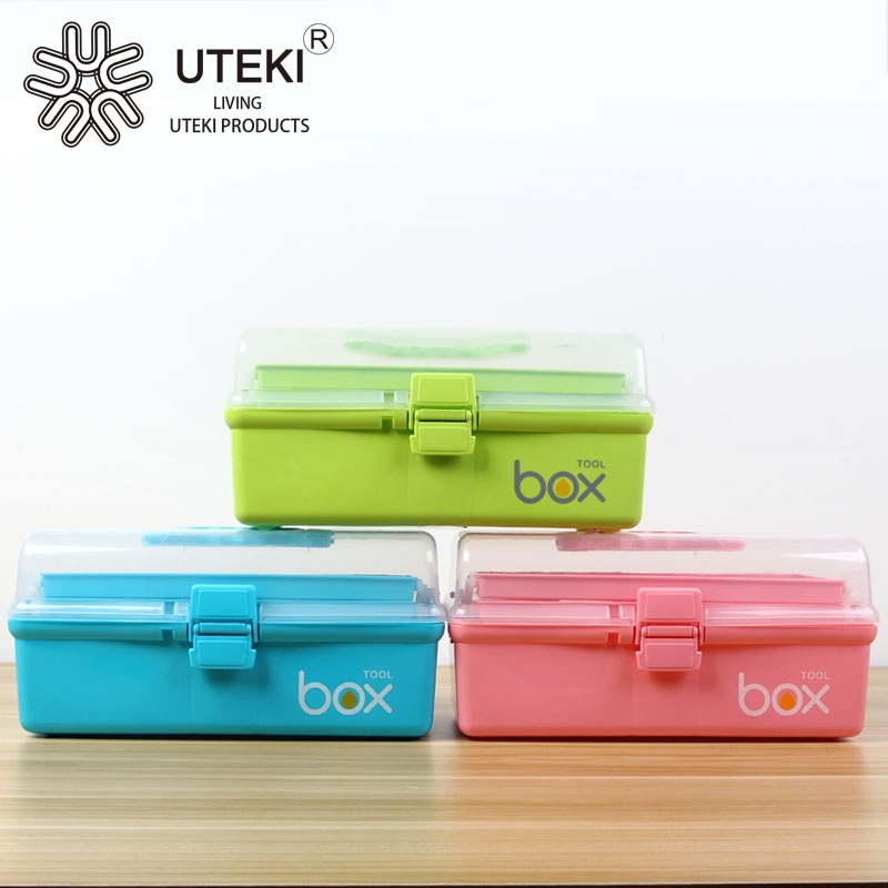 Newest design plastic waterproof three layer tool case