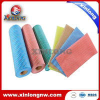2015 XINLONG viscose/polyester dry kitchen spunlace nonwoven disposable cleaning wiping cloths