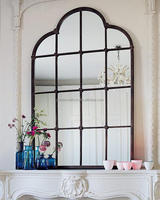 metal designer wall mirror frame