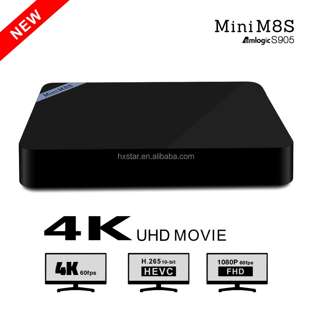 With Bluetooth 4.0 Amlogic S905 Google Android 5.1 2G 8G H.265 HEVC Quad Core MINI M8S Android TV Box