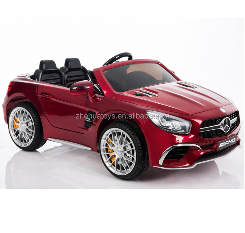 2017 Hot sale 12v ride on two seater Mercedes benz SL65 toy car for kids