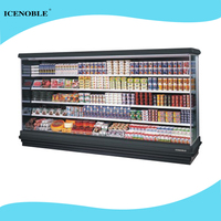 used side by side commerical multideck refrigerator for fruits and vegetables