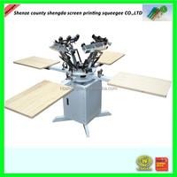 tee shirt screen printing manual four color four station screen printing machine