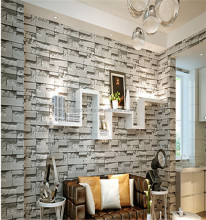 Stone vintga 53cm*10m wall paper Chinese cheap country design Household wall decoration paper supplier