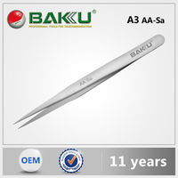 BK A3 BaKu Anti-Magnetic Anti-Acid Not-Corrosive Precision Widely Useful Tweezers Stainless Pointed Tip Tweezers
