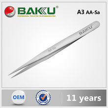 BaKu BK-A3 Anti-Magnetic Anti-Acid Precision Tweezer With Stainless Pointed Tip As Eyelash Extension Tweezers