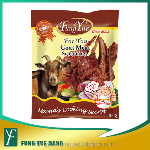 OEM brand unique flavor 100g goat sachet for barbecue soup
