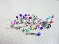2014 hot wholesale gauges 316L surgical stainless steel UV acrylic ball printed pictures lip piercing