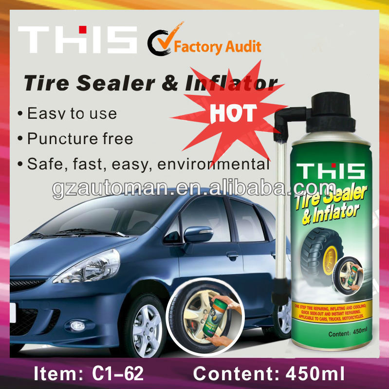 non-conductive car automatic tire sealer and inflator