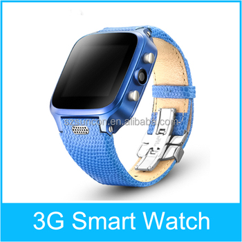 "1.54"" OGS IPS Screen 500W camera Waterproof Genuine Leather Watchband bluetooth 4.0 /GPS/WIFI 3G android smart watches"