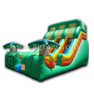 inflatable slides,commercial attractive inflatable double slip water slide with pool G4102