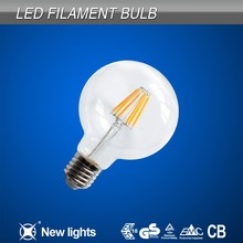 Korea led filament bulb 220v E26 G80 6500K