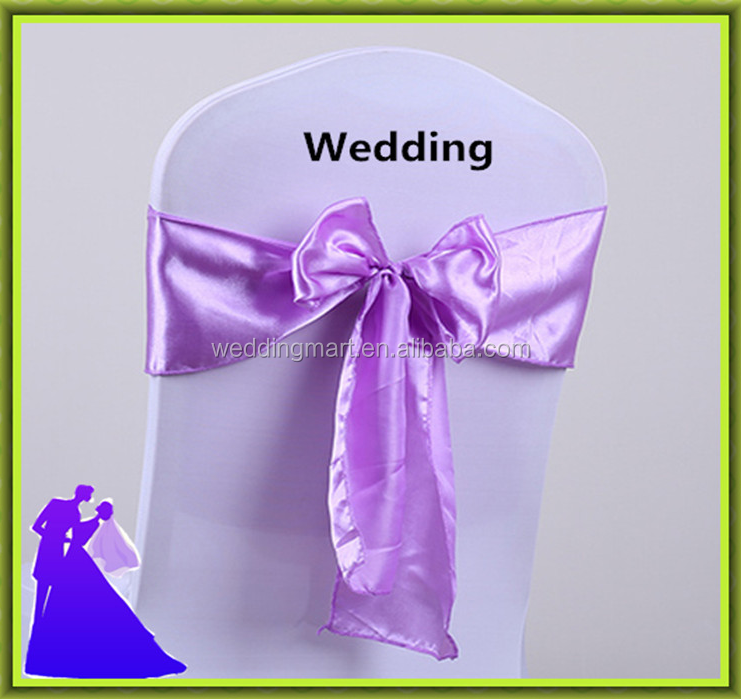 Fancy satin christmas chair sash for wedding banquet cheap price