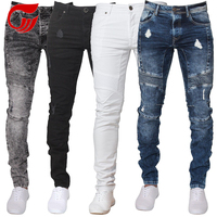 color brand custom ripped new style denim jeans for men