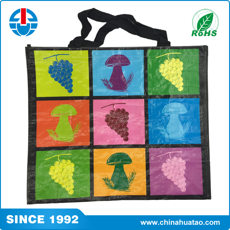 Fugang Reusable Fruit Vegetables Pattern PP Woven Lamination Shopping Bag