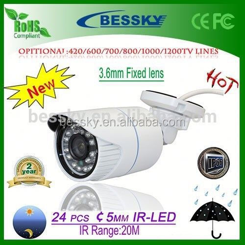 2015 Hot Selling & High Quality IP66 Weatherproof IR Home Security minicam