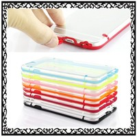 Dustproof Plug Slim Transparent Clear PC Hard TPU Case for Apple iPhone 6 4.7 inch