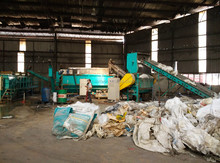 waste agricultural film/mulching film recycling & pelletizing machine