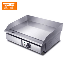 Half smooth half ribbed stainless steel non-stick cast iron electric grill teppanyaki griddle